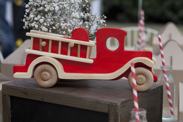 Vintage Firetruck Inspired Dessert Table Boys Parties Props