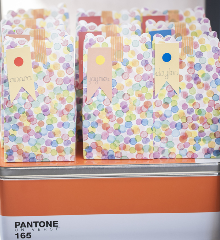 Pantone Inspired Art Party for Kids Goody Bags and Activities