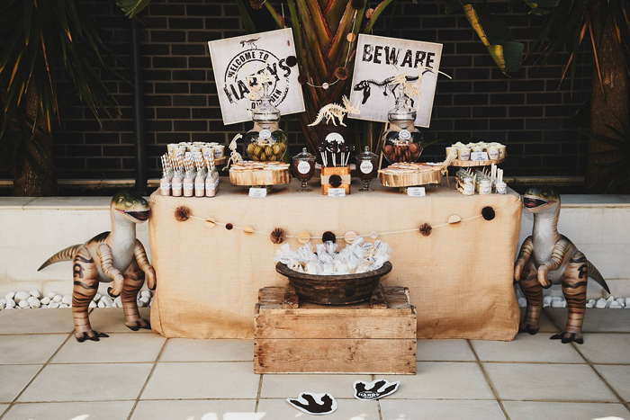 Dinosaur Dessert Table Party Ideas for Kids