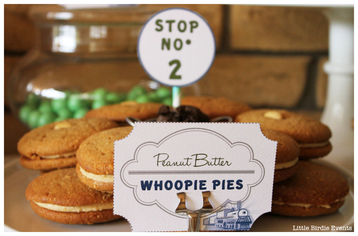 Retro Train Party Peanut Butter Whoopie Pies