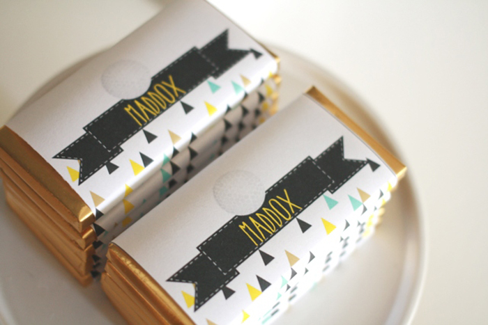 Golf inspired party ideas personalized candy bars