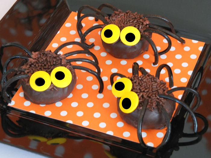 Orange and Black Halloween Inspired Dessert Table