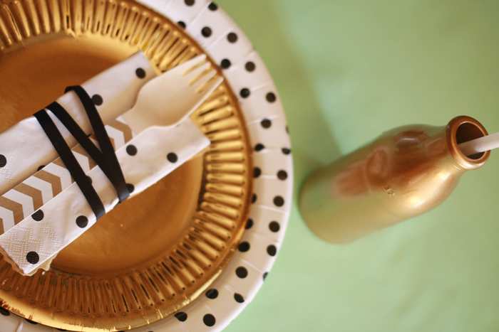 Golf inspired party ideas table settings