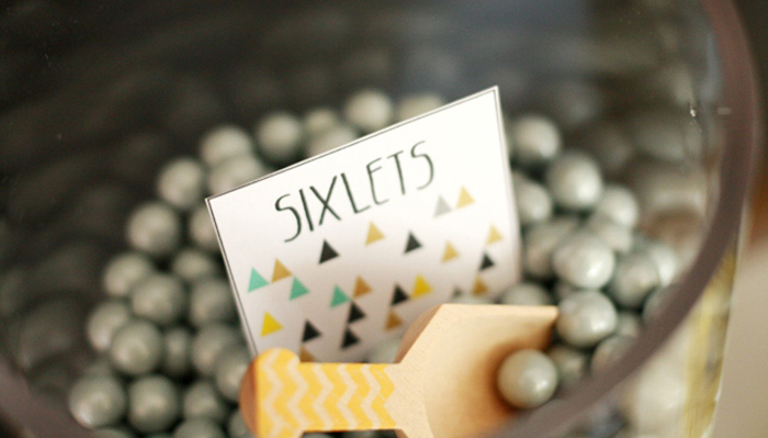Golf inspired party ideas sixlets