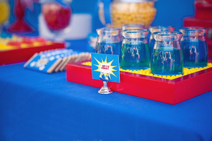 Blue Red and Yellow Superhero Party