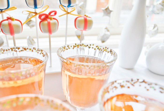 Peach Cocktail Sparkler Guest Dessert Table