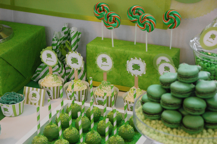 Frog Inspired Dessert Table Frog Inspired Guest Dessert Feature
