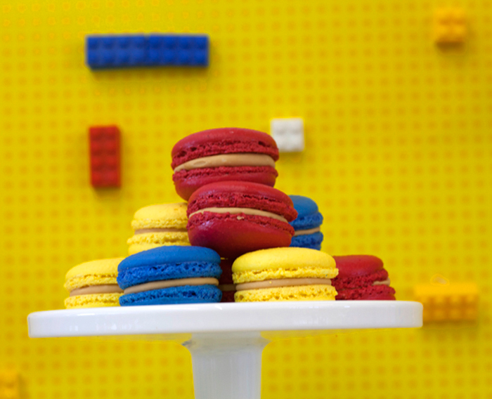 Lego Party Macarons Lots of Legos Guest Dessert Feature