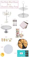 Tea Party Must Haves for a Downton Abbey Party