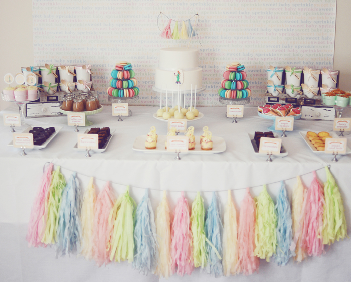 Baby Shower Dessert Table Pretty Baby Shower Guest Dessert Feature