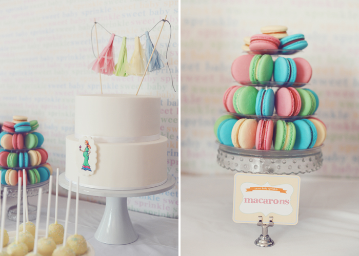Macaron Tower Pretty Baby Shower Guest Dessert Feature