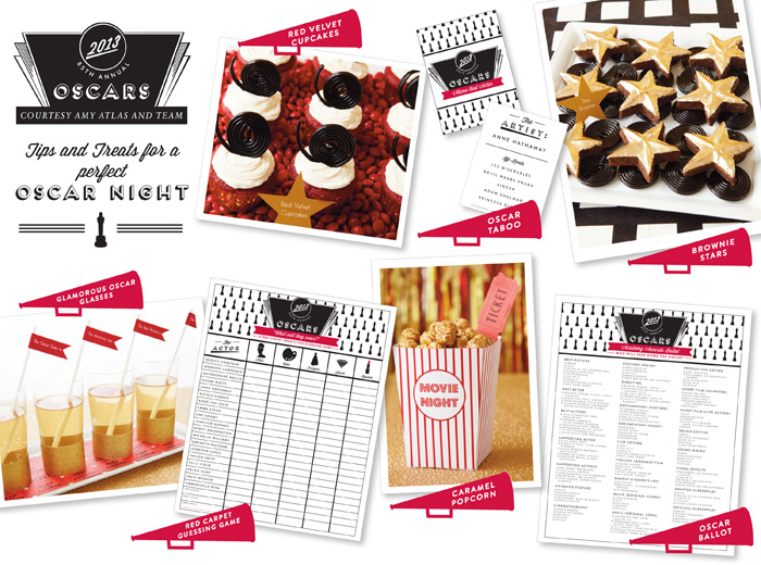 Oscars 2013 Oscar 2013 Party Ideas: Part I {Red Carpet Prediction Guessing Game FREE Printable}