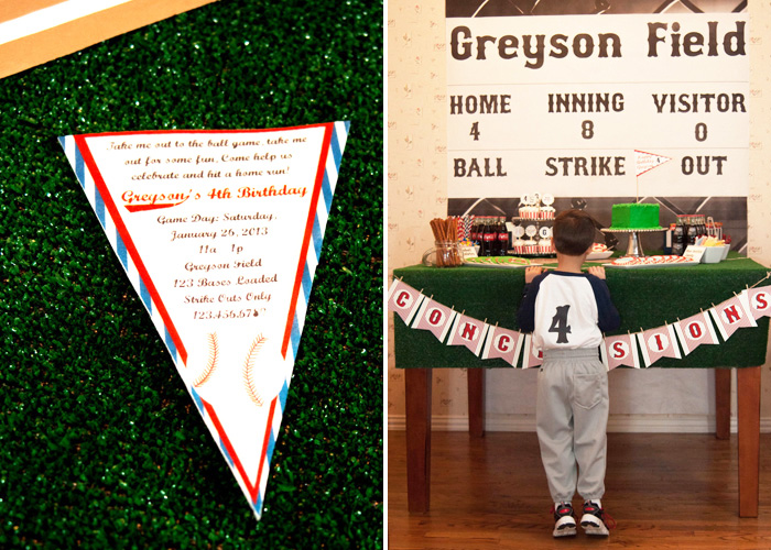 Baseball Party Invite1 Vintage Baseball Guest Dessert Feature
