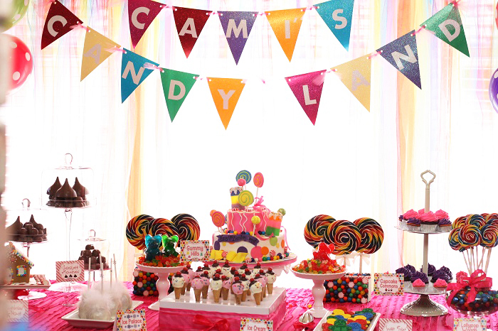 Candy Land Dessert Table1 Candy Land Guest Dessert Feature