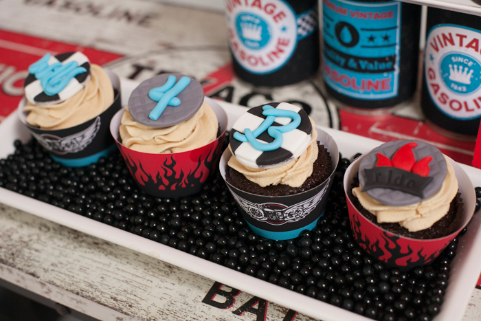 Boys Party Cupcakes Motorcycle Party Guest Dessert Feature