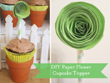 Spring Showers Guest Dessert Feature {& DIY Paper Flower Tutorial}