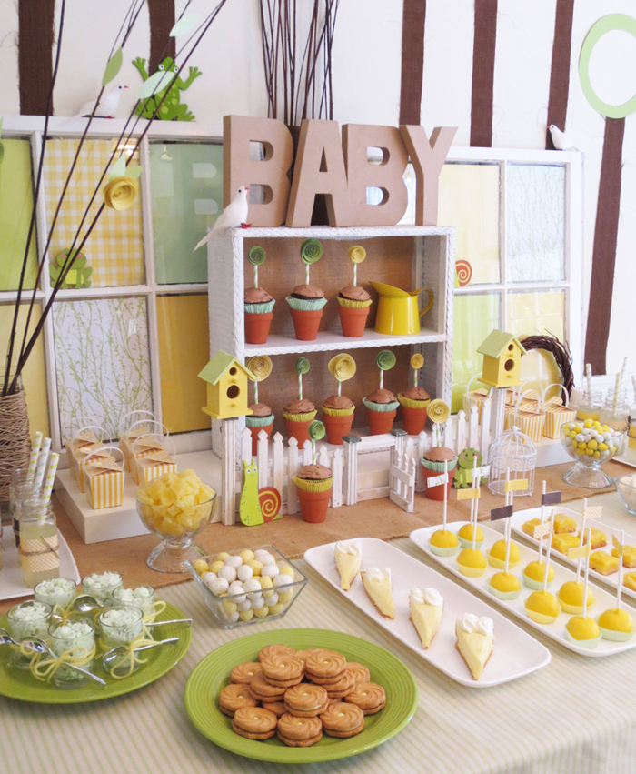 Full Dessert Table1 Spring Showers Guest Dessert Feature {& DIY Paper Flower Tutorial}