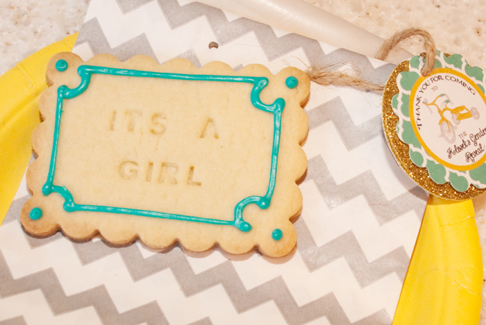 Its A Girl Cookie Gender Reveal Guest Dessert Feature