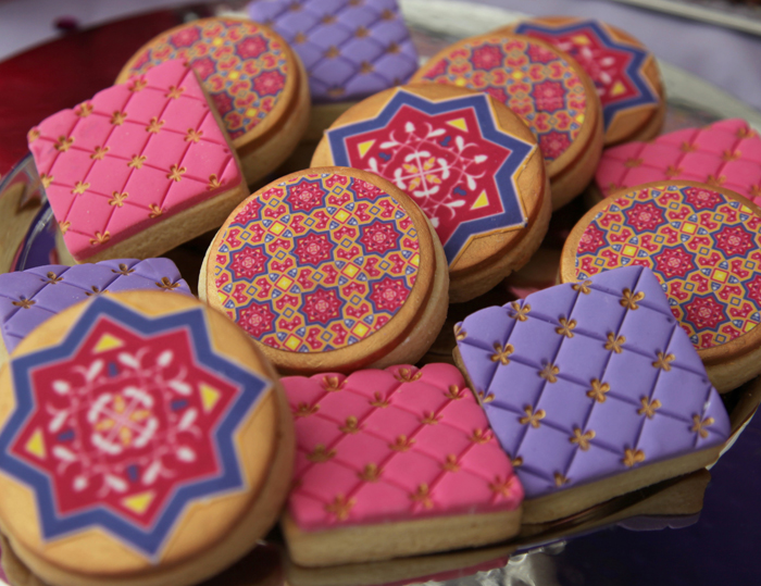 Morrocan Themed Sugar cookies Moroccan Themed Guest Dessert Feature