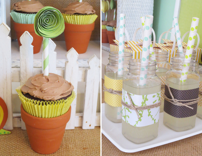 Paper Cupcake Topper Spring Showers Guest Dessert Feature {& DIY Paper Flower Tutorial}