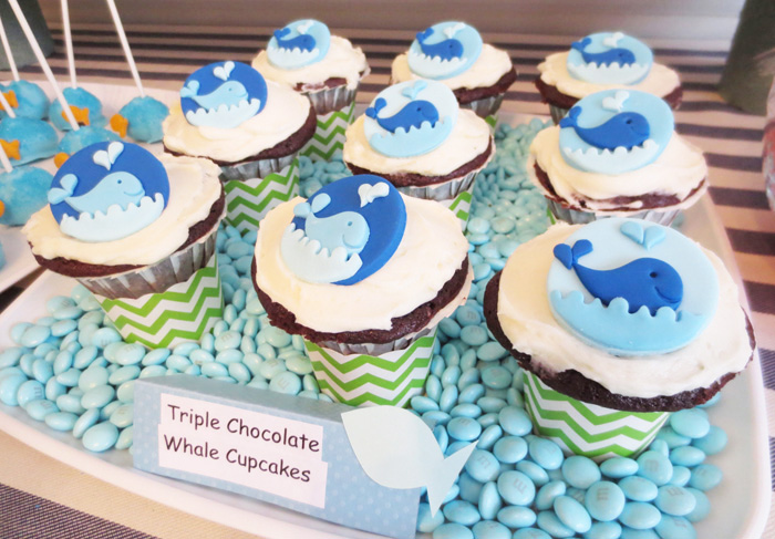 Whale Cupcakes Fish In The Sea Guest Dessert Feature