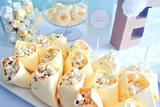 Mint and Yellow Baby Shower Guest Dessert Feature