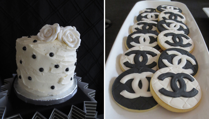 Chanel Cookies Crazy About Coco Guest Dessert Feature