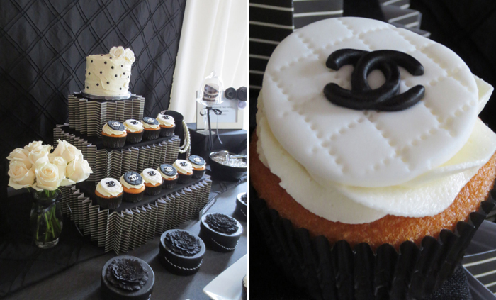 Chanel Cupcakes Crazy About Coco Guest Dessert Feature
