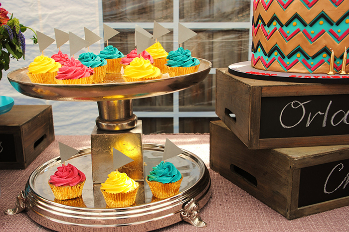 Cupcakes1 Colorful Chevron Dessert Feature