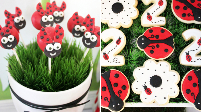 Lady Bug Inspired Party | Cake Pops and Sugar Cookies