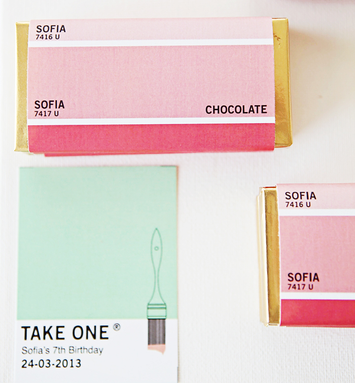 Personalized Chocolate Bars Pretty Pantone Guest Dessert Feature