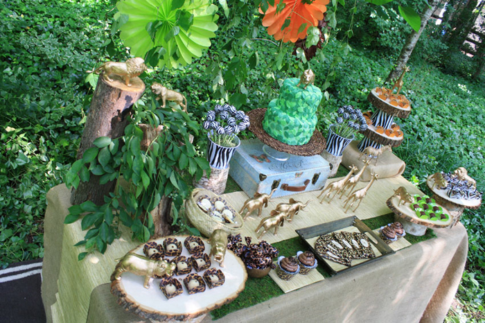 Safari Party Dessert Table Safari Party Guest Dessert Feature