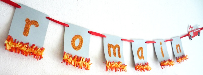 Signage1 Five Alarm Guest Dessert Feature {& Tissue Fire Backdrop Tutorial}