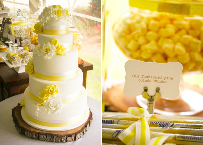Yellow Cake Rustic Summer Wedding Guest Dessert Feature
