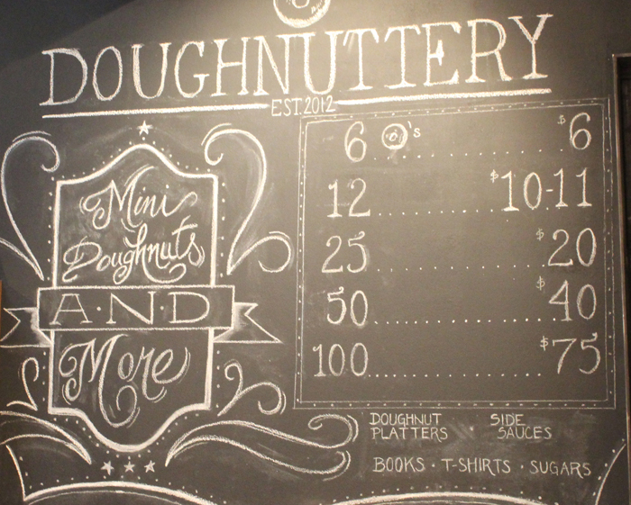 Chalkboard Sign Great Finds: Doughnuttery