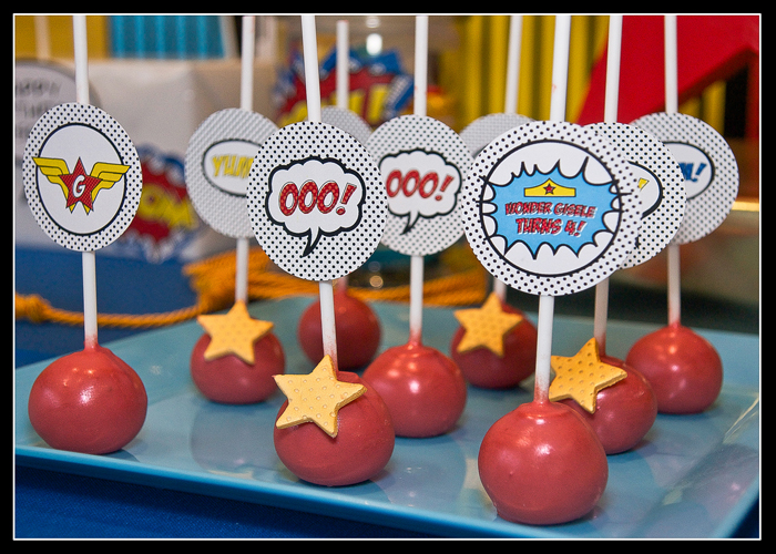 Superhero Cake Pops Wonder Woman Guest Dessert Feature