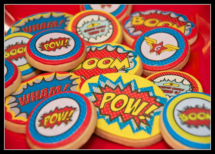 Superhero Sugar Cookies1 Wonder Woman Guest Dessert Feature