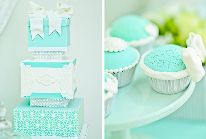 Tiffany Inspired Cake Tiffany Blue Dessert Table