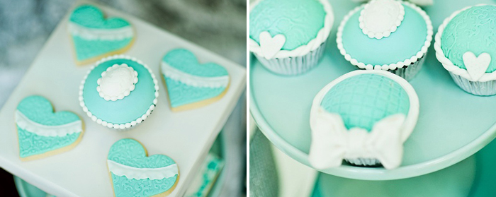 Tiffany Inspired Cupcakes Tiffany Blue Dessert Table