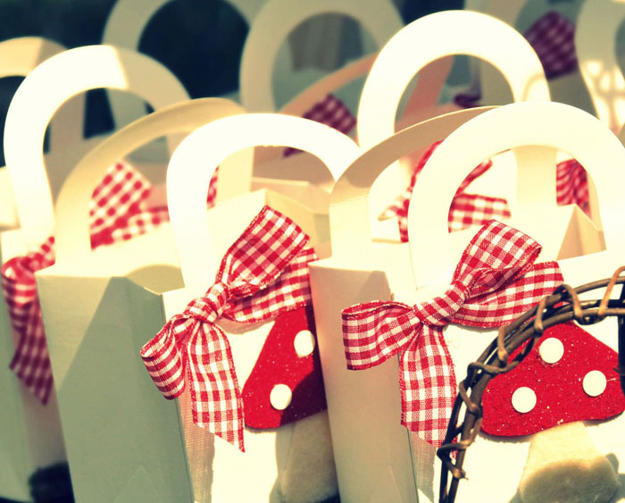 Toadstool Goodie Bags Little Red Riding Hood Guest Dessert Feature