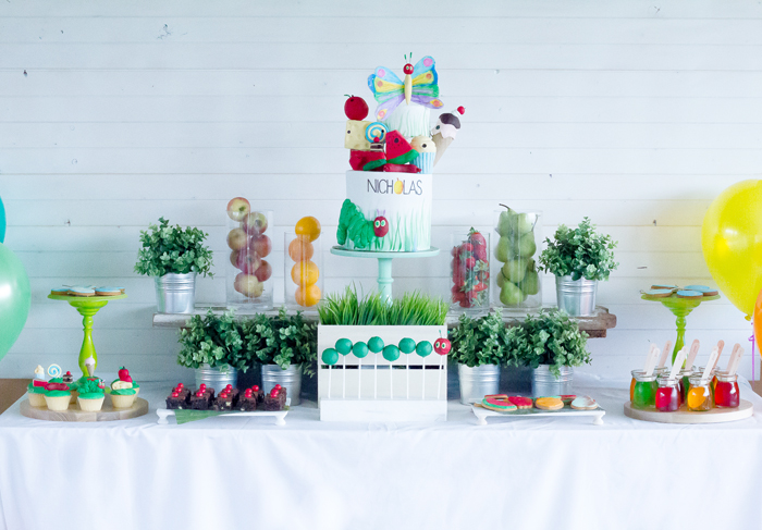 Hungry Caterpillar Dessert Table Very Hungry Caterpillar Guest Dessert Feature