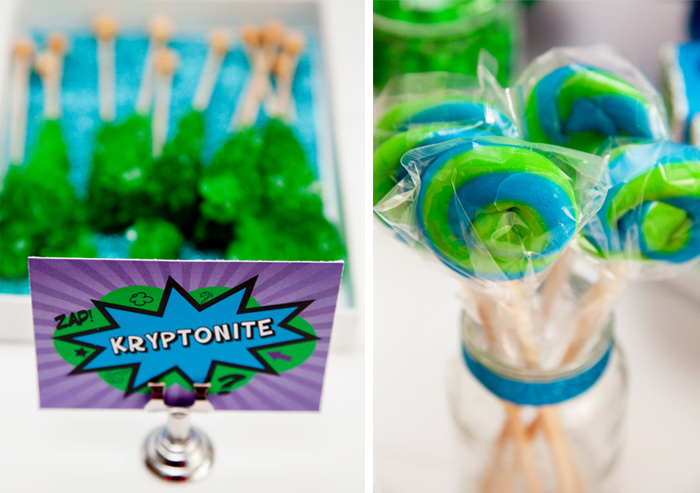 kryptonite rock candy Superhero Guest Dessert Feature