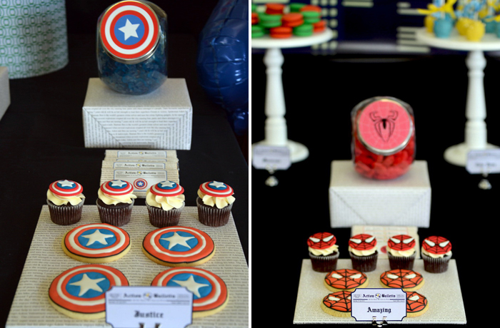 Captain America Cookies Superhero Guest Dessert Feature
