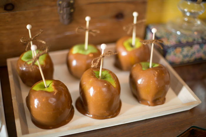 Caramel Apples Elegant Sunflower Guest Dessert Feature
