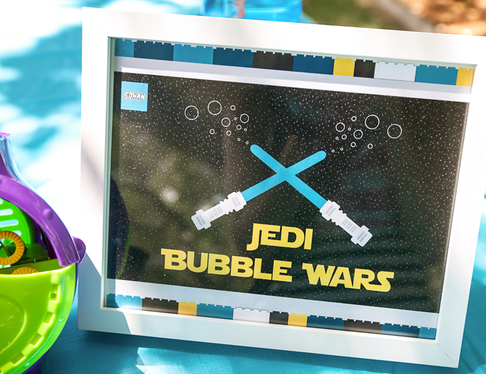 Jedi Bubbles Legos And Lightsabers Party: Part II