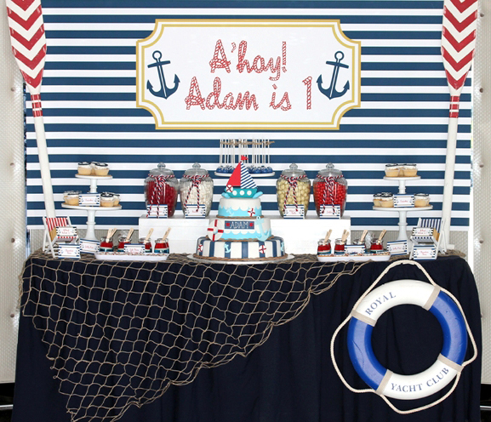 Nautical Dessert Table Anchors Aweigh Guest Dessert Table