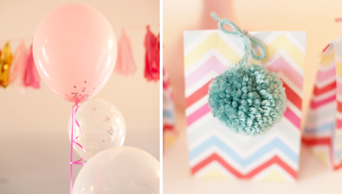 Pom Pom Favor Bags Crafting Party Guest Dessert Feature