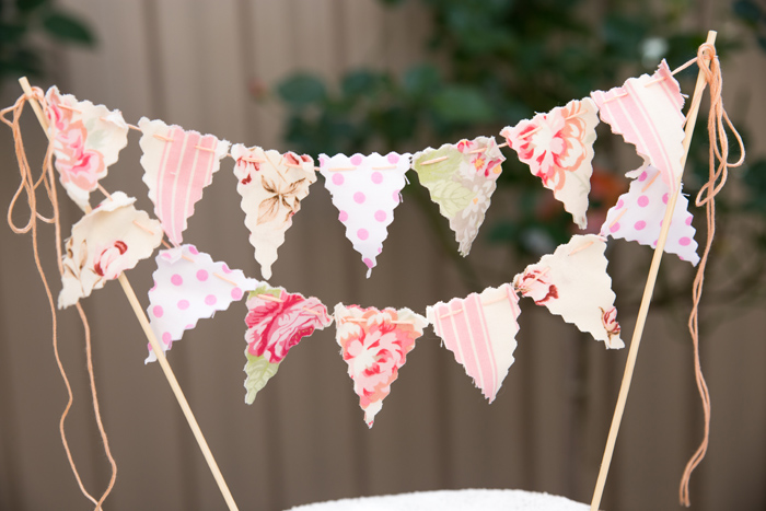 Cake Bunting Beautiful Garden Baby Shower Guest Dessert Feature