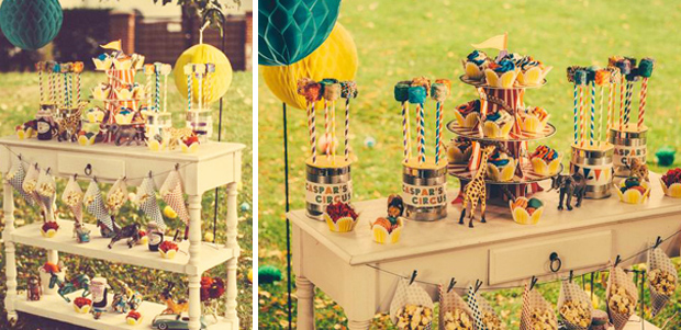 Vintage Circus Party | Cupcakes