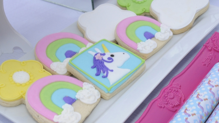 Unicorn Rainbow Sugar Cookies Unicorns & Rainbows Guest Dessert Feature